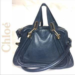 Chloe Paraty Navy Blue Bag *Authentic*